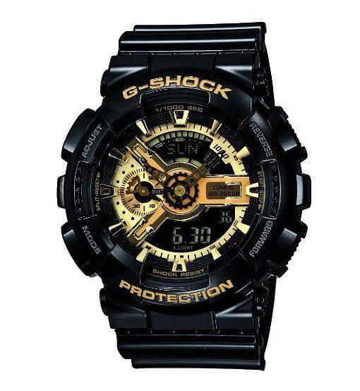 カシオ Gショック ブラック×ゴールド 流通限定モデル デジアナ BIGCASE