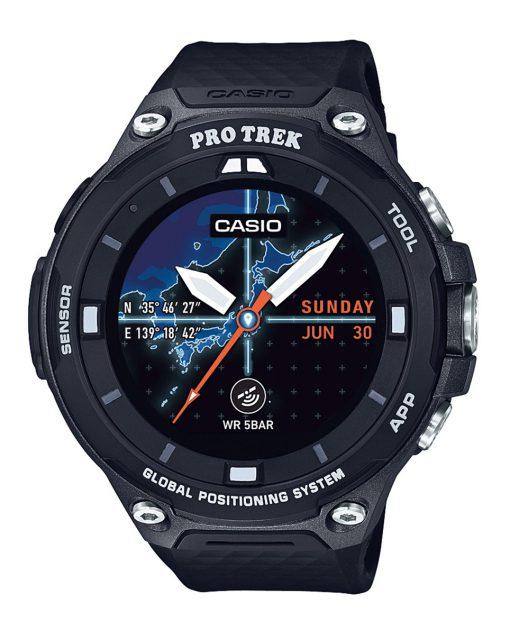 カシオ スマートウォッチ プロトレック  5気圧防水  GPS搭載 ウェアラブル端末 PROTREK Smart ブラック