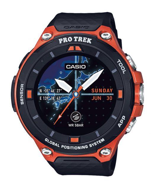 カシオ スマートウォッチ プロトレック スマート  5気圧防水 GPS搭載 ウェアラブル端末 PROTREK オレンジ