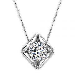 FROEVERMARK エターナル コレクション ソリティア ダイヤモンド ペンダント