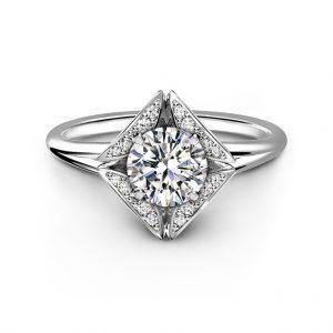 FROEVERMARK エターナル コレクション パヴェ ダイヤモンド リング