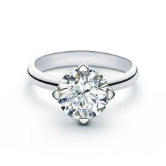 FROEVERMARK ソリティア ダイヤモンド リング