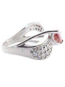 インペリアルトパーズ ダイヤモンド プラチナリング